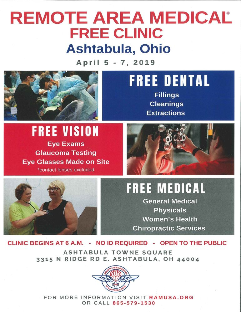 Remote Area Medical - Free Clinic (April 5-7, 2019)
