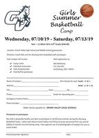 Girls Summer Basketball Camp for Grades 4-8