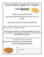 Grand Valley Apple Pie Contest and Auction Tues., Oct. 15, 2019