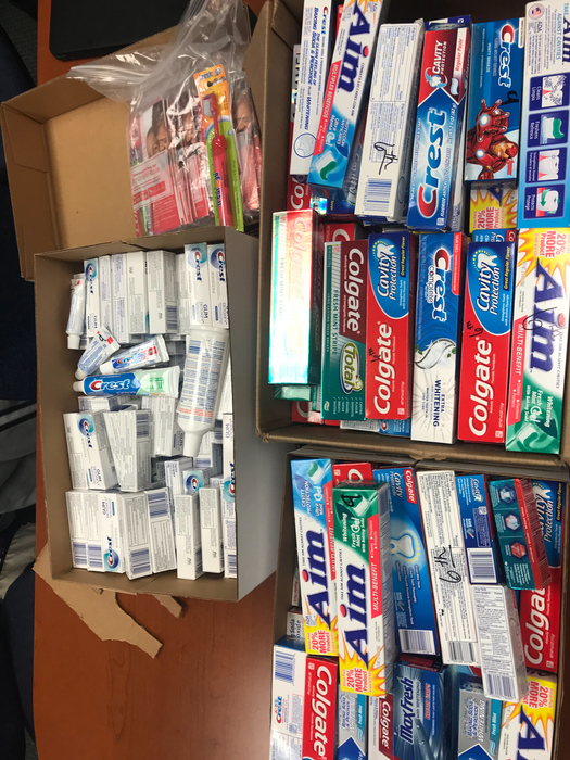 Toothpaste drive from Interact