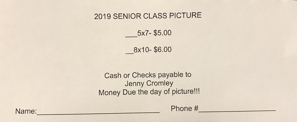 class pic order form