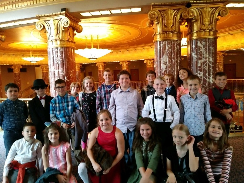 Mrs. DeGreen's class inside Severance Hall.