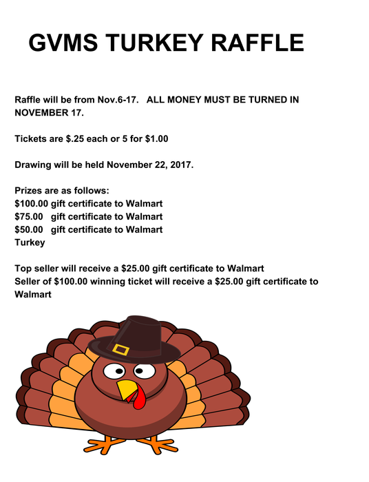 GVMS PTO Turkey Raffle