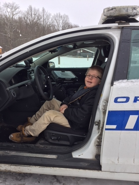 GVMS student checking out the cruiser